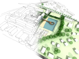 Illustration of an idea and implementation of urban design