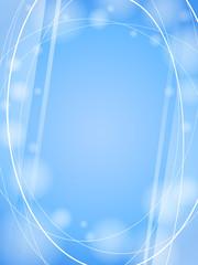 blue waves light design template frame background