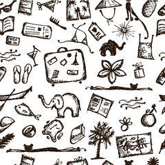 Summer vacations seamless pattern for your design