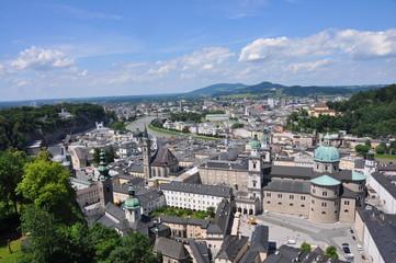 Blick über Salzburg, Österreich