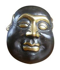 bouddha, sculpture, tête, visage, expression, humeur,