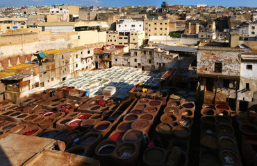 Traditional tannerie of Fes, Morocco
