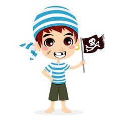 Foto op Plexiglas Piraten Little Pirate Kid