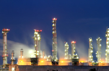 Oil refinery at twilight (Map Ta Phut Industrial Estate Rayong T