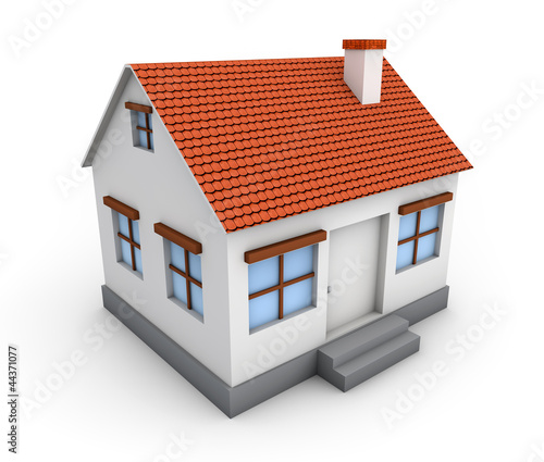 3d Simple House Model Stock Photo And Royalty Free Images