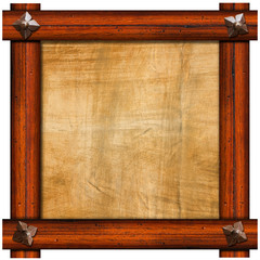 Vintage Old Wooden Frame