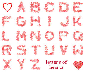 letters of hearts