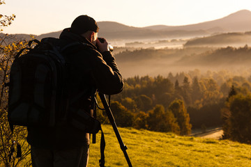 photographer in the landscape