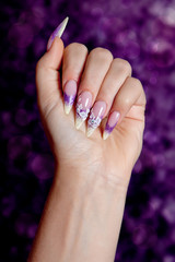 Beautiful purple manicure