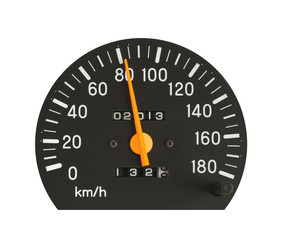 Speedometer isolated on white background