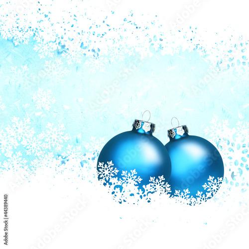weihnachtsmotiv mit blauen kugeln stockfotos und. Black Bedroom Furniture Sets. Home Design Ideas