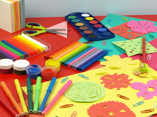 Colorful paper-cut