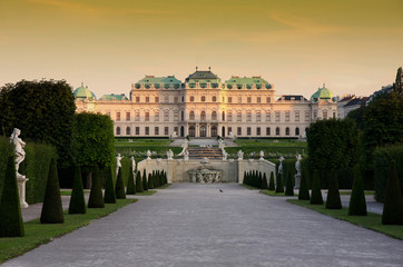 Printed kitchen splashbacks Vienna Baroque castle Belvedere in Vienna, Austria