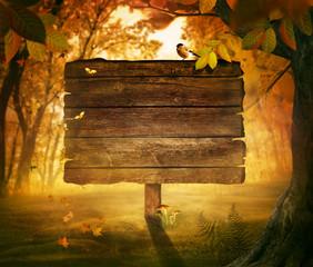 Autumn design - Forest sign
