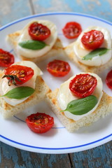 toast with tomato and chees