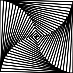Canvas Prints Psychedelic Black and white hypnotic background.