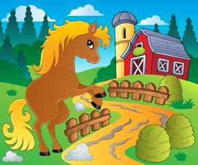 Foto op Canvas Pony Horse theme image 4