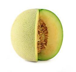 cantaloupe melon isolate on white background