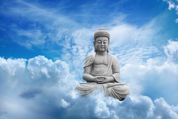 Fototapete - Bouddha Dans les Nuages