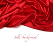 red silk fabric background