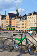 bike in stockholm, sweden