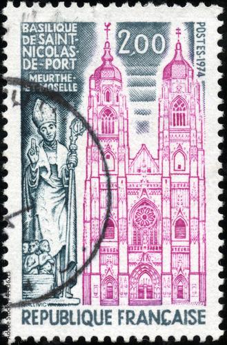 Stamp basilique de saint nicolas de port meurthe et moselle photo libre de droits sur la - Basilique de saint nicolas de port ...