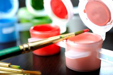 brush on the jar