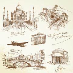 over the world travel - vector illustration