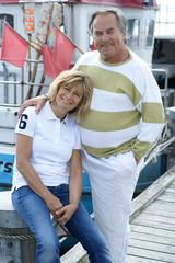 Älteres Paar am Meer