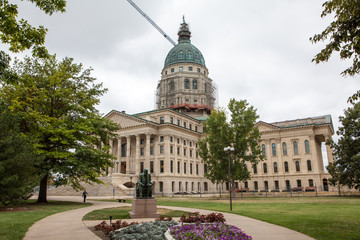Wall Mural - Kansas State House and Capitol Building in Topeka, KS