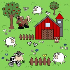 farm background pattern