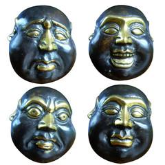 bouddha, visage, faciès, humeur, zen, attitude, sculpture,