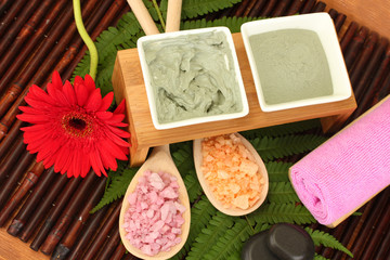 cosmetic clay for spa treatments close-up
