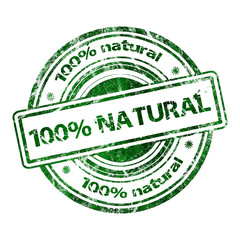 100% Natural Grunge Rubber Stamp