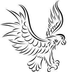 Abstract eagle, vector