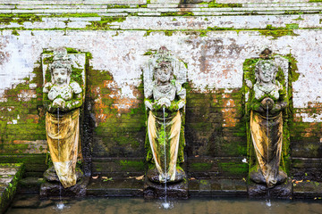 Fountains at Goa Gajah Temple, Ubud, Bali, Indonesia.