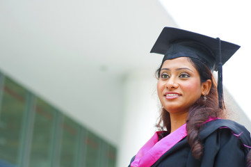 Young Indian female graduate
