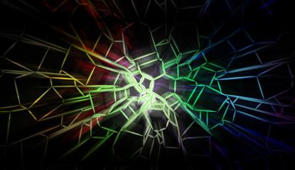 voronoi colorful line art background cover