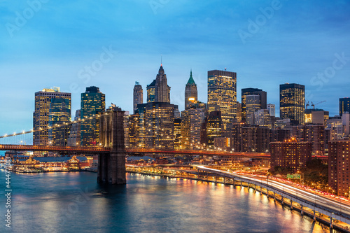 Wall mural New York Manhattan Pont de Brooklyn
