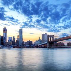Fotomurales - Hudson River et Manhattan, New York.