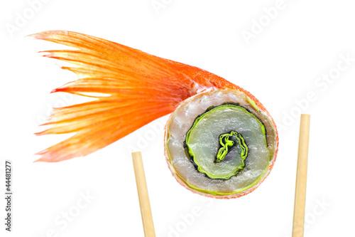 Sushi raw fish photo libre de droits sur la banque d for Is sushi raw fish