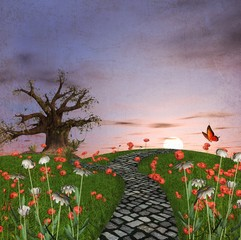 Wall Mural - Vintage country landscape
