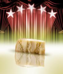 formaggio grana in sipario