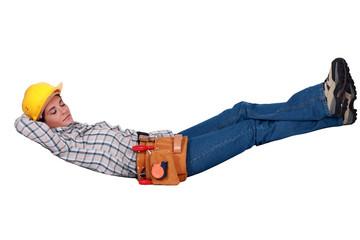 Mason layingin hammock