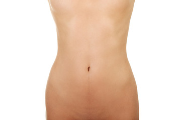 Fit female belly