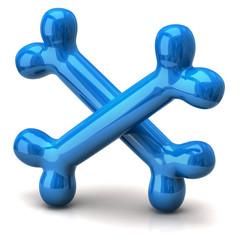 Two blue bones