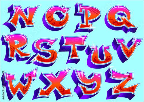 """Chiffre En Tag lettres graffiti - nz"""" fichier vectoriel libre de droits sur la"""
