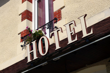 hotel sign in france
