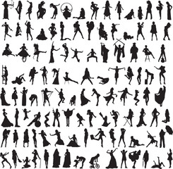 a variety of interesting silhouettes of women