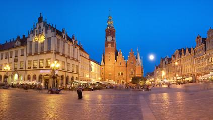 Papiers peints Pleine lune Wrocławski rynek przy pełni księżyca
